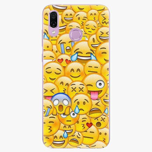 Silikonové pouzdro iSaprio - Emoji - Huawei Honor Play