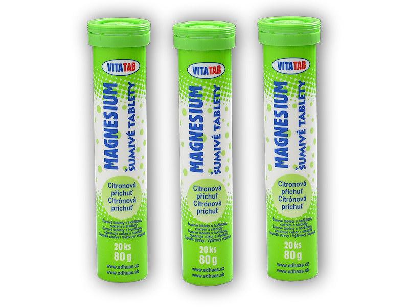 3x Vitatab Magnesium 20 šumivých tablet