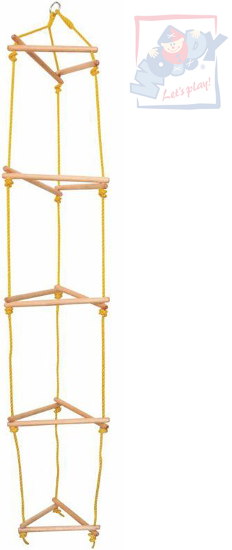 WOODY DŘEVO Žebřík dětský závěsný provazový 185 cm věž