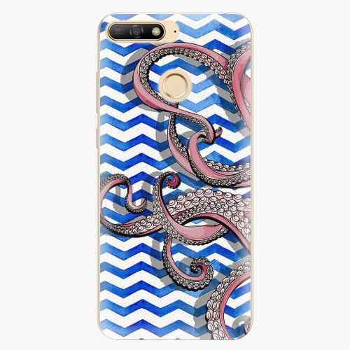 Silikonové pouzdro iSaprio - Octopus - Huawei Y6 Prime 2018