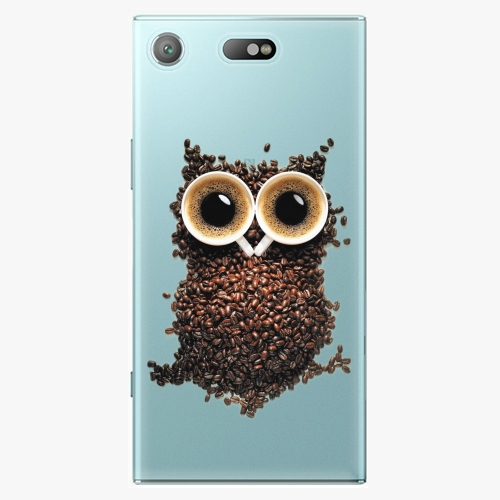 Plastový kryt iSaprio - Owl And Coffee - Sony Xperia XZ1 Compact