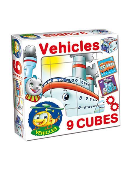 Skládací obrázkové kostky Vehicles - dle obrázku