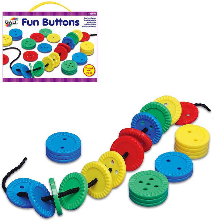 ADC Zábavné knoflíky 2 herní set provlékačka v krabici plast
