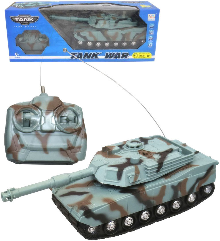 RC Tank 23cm na dálkové ovládání na baterie plast