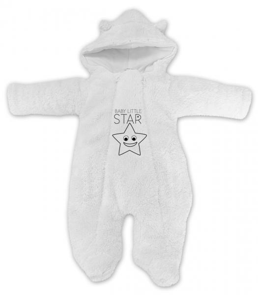 baby-nellys-zimni-chlupackova-kombinezka-little-star-bila-vel-62-62-2-3m