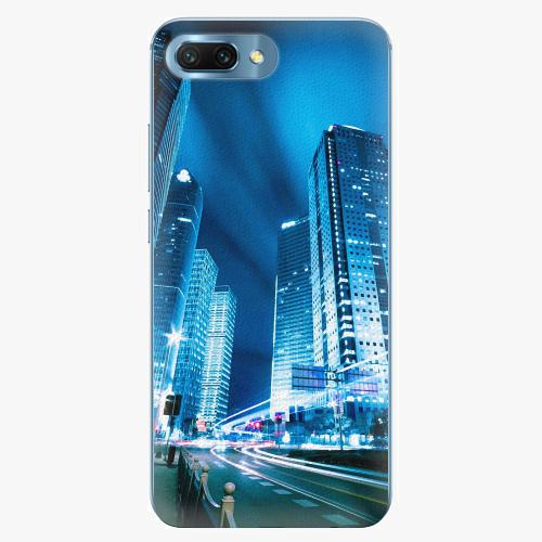 Silikonové pouzdro iSaprio - Night City Blue - Huawei Honor 10