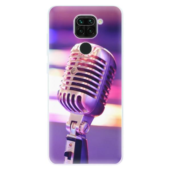 Odolné silikonové pouzdro iSaprio - Vintage Microphone - Xiaomi Redmi Note 9