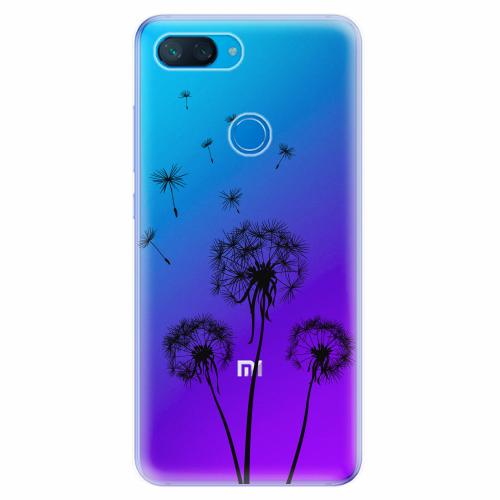 Silikonové pouzdro iSaprio - Three Dandelions - black - Xiaomi Mi 8 Lite
