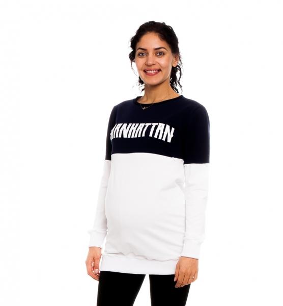 Be MaaMaa Těhotenské, kojící tričko/mikina Manhattan