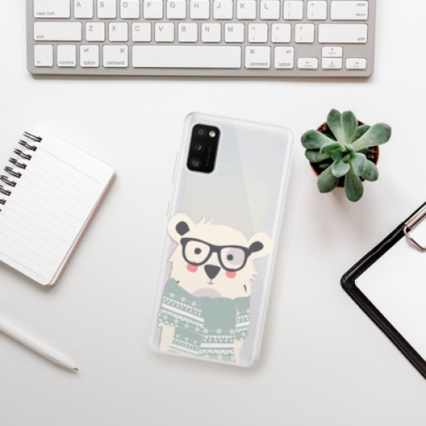 Odolné silikonové pouzdro iSaprio - Bear with Scarf - Samsung Galaxy A41