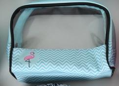 Tašky na kosmetiku s okénkem - Kosmetická taška - Plameňák