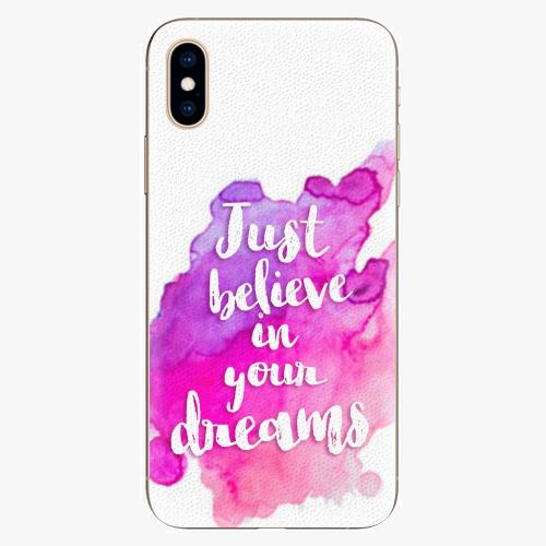 Silikonové pouzdro iSaprio - Believe - iPhone XS
