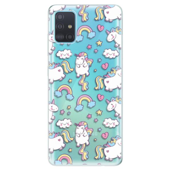 Odolné silikonové pouzdro iSaprio - Unicorn pattern 02 - Samsung Galaxy A51