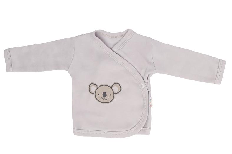 Mamatti Novozenecká bavlněná košilka zapínání bokem, Koala