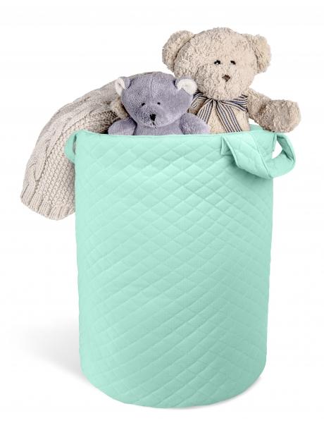 Box na hračky Velvet lux Miminu, prošívaný - mátový