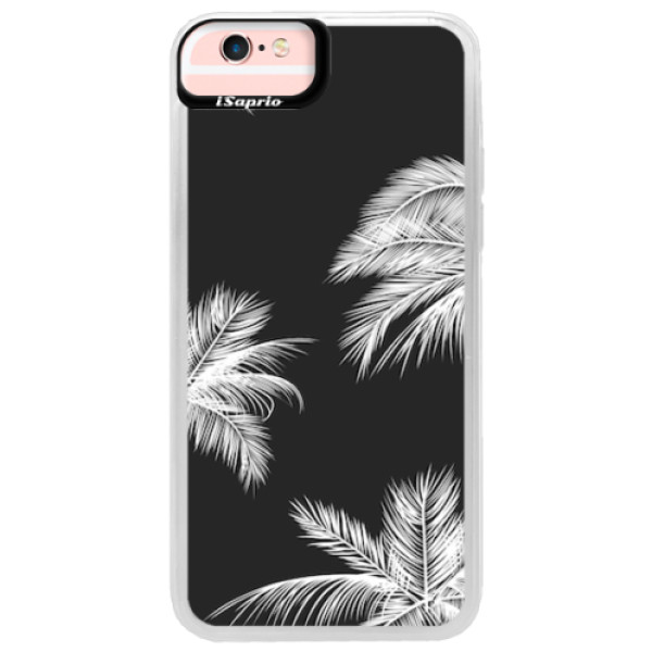 Neonové pouzdro Pink iSaprio - White Palm - iPhone 6/6S
