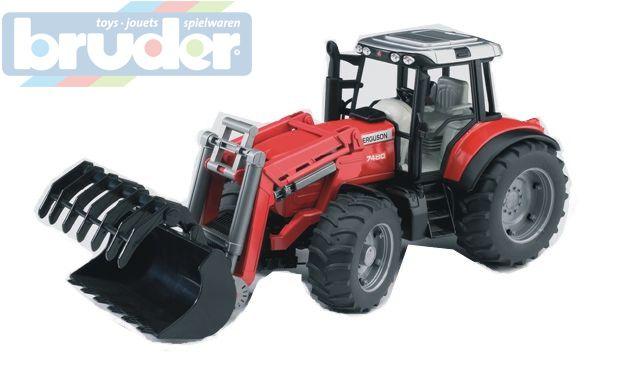 BRUDER 02042 (2042) Traktor Massey Ferguson nakladač