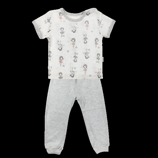 Mamatti Bavlněné pyžamko Mamatti Baletka - krátký rukáv