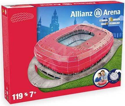NANOSTAD 3D Puzzle model fotbalový stadion FC Bayern Mnichov německo 119 dílků