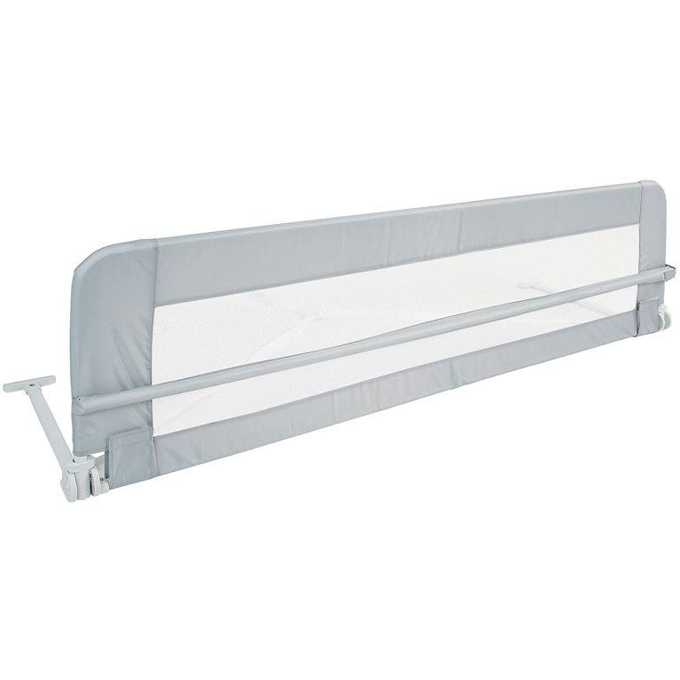 Dětská zábrana na postel, 150 cm, šedá