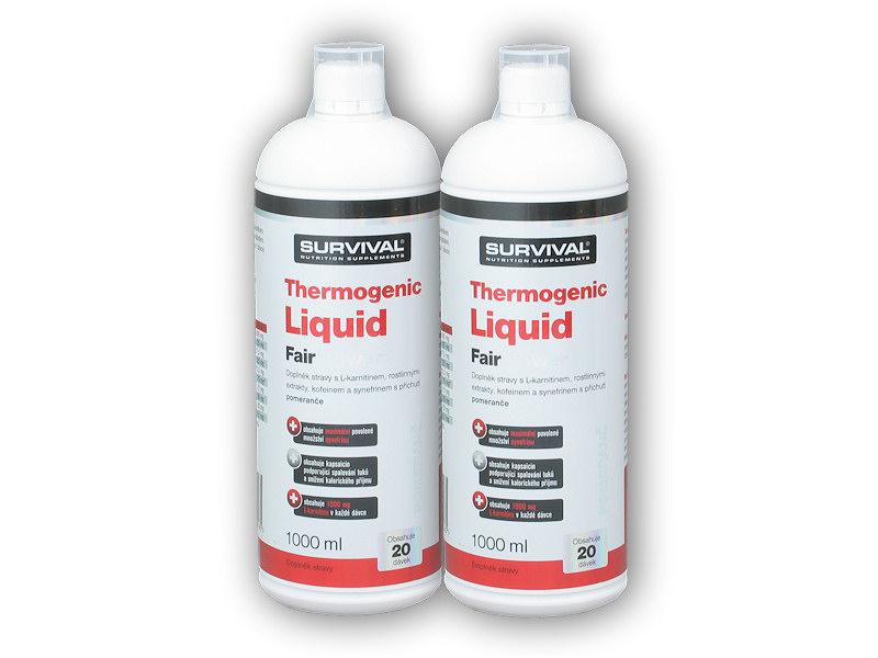 2x Thermogenic liquid fair power 1000ml