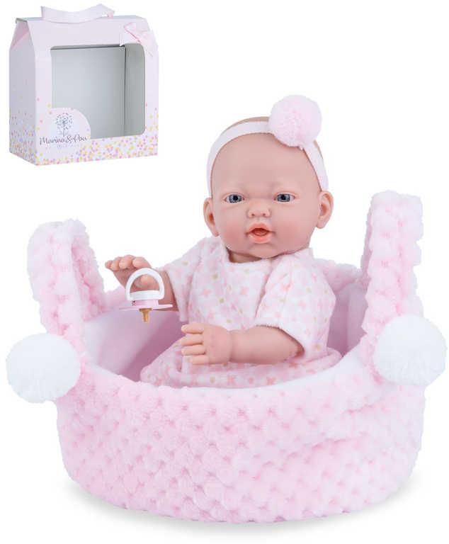 MARINA & PAU Panenka miminko vonící 21cm holčička ruční výroba plast