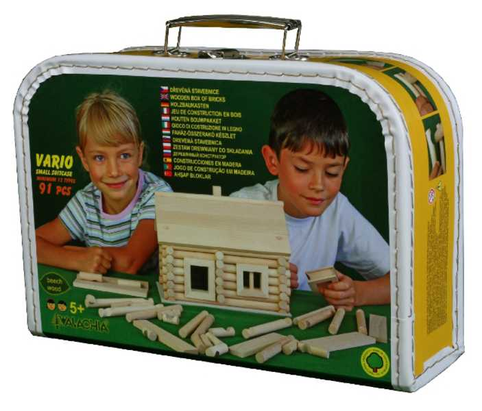 WALACHIA Vario kufřík 33W33 dřevěná stavebnice