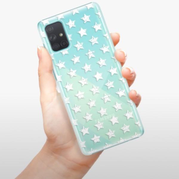 Plastové pouzdro iSaprio - Stars Pattern - white - Samsung Galaxy A71