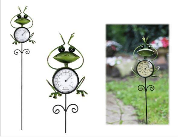 Zahradní teploměr - žabka