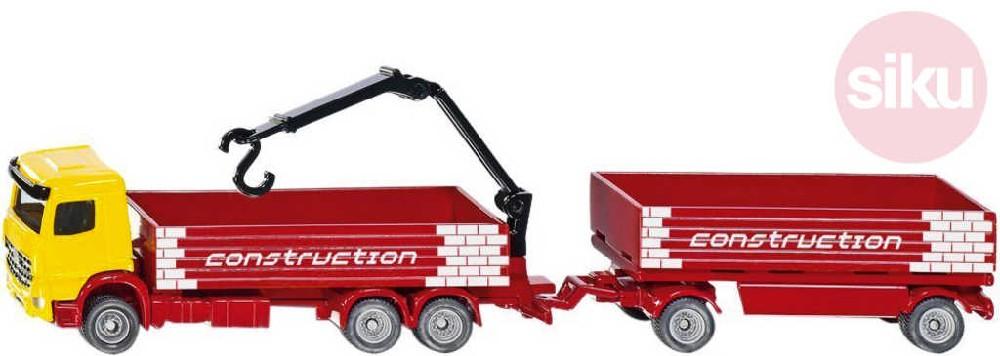 SIKU Auto nákladní kamion set s přívěsem 1:87 model kov 1797