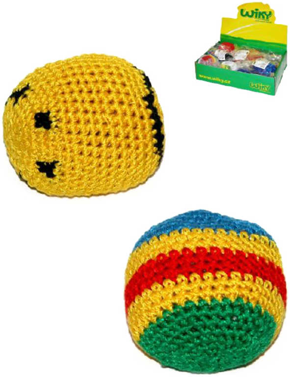 Míček textilní Hakysák 6cm háčkovaný footback balonek