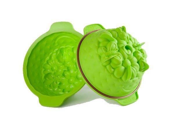 Silikonová forma na dort zelená průměr 20cm