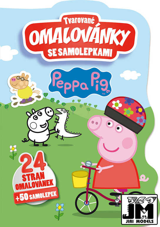 JIRI MODELS Omalovánky tvarované + samolepky Peppa Pig