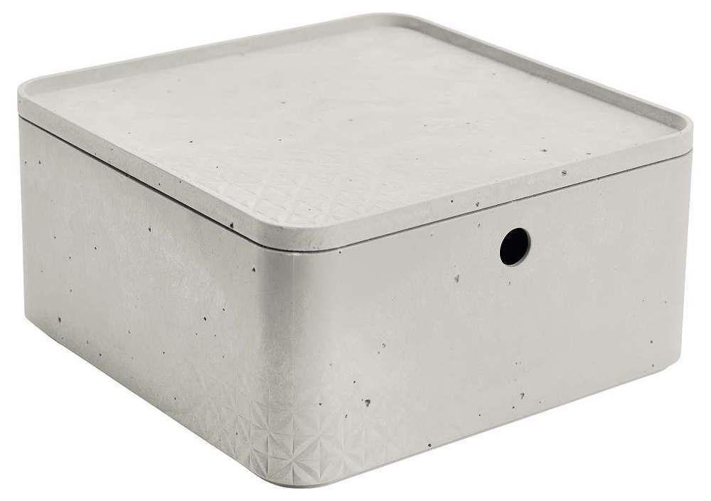 Úložný box s víkem CURVER BETON - L
