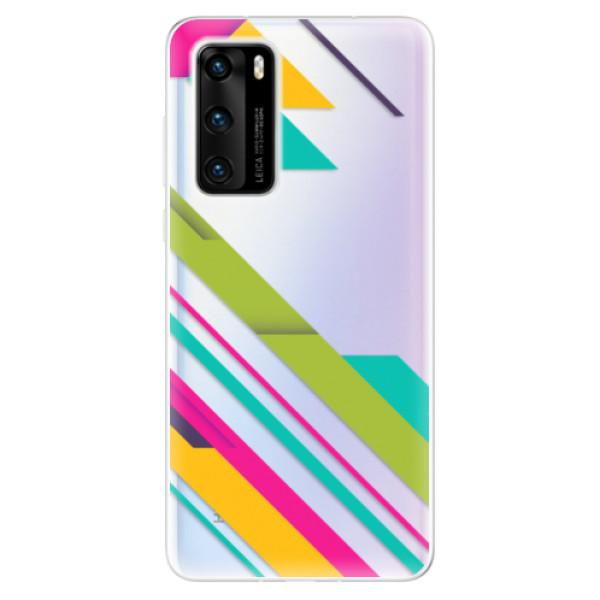 Odolné silikonové pouzdro iSaprio - Color Stripes 03 - Huawei P40