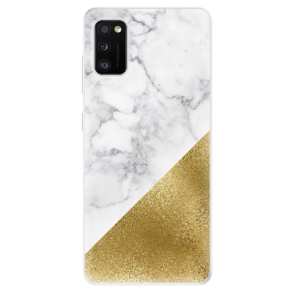 Odolné silikonové pouzdro iSaprio - Gold and WH Marble - Samsung Galaxy A41