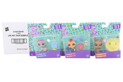 Littlest Pet Shop Maminka s miminkem a doplňky - cena za 3 kusy