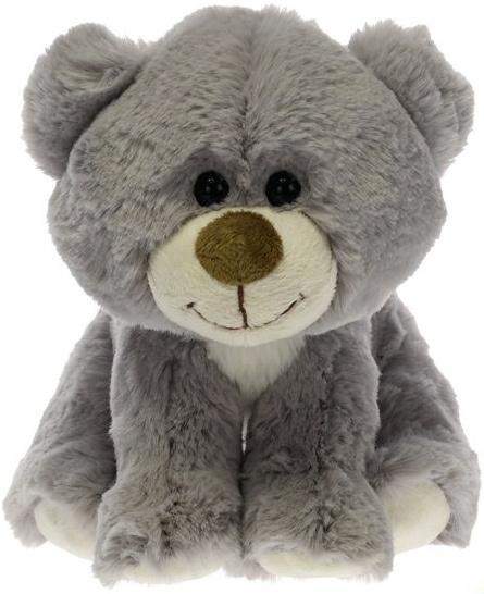 PLYŠ Medvídek šedý 19 cm sedící