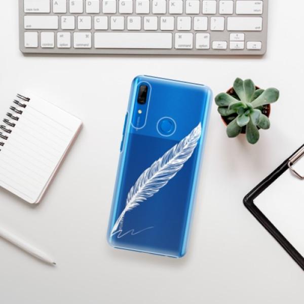 Plastové pouzdro iSaprio - Writing By Feather - white - Huawei P Smart Z