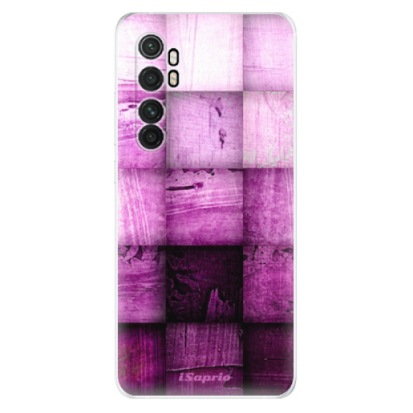 Odolné silikonové pouzdro iSaprio - Purple Squares - Xiaomi Mi Note 10 Lite