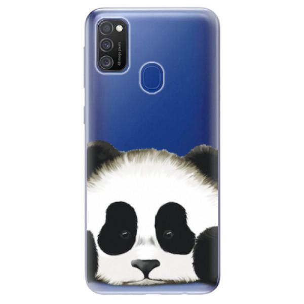 Odolné silikonové pouzdro iSaprio - Sad Panda - Samsung Galaxy M21