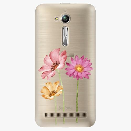 Plastový kryt iSaprio - Three Flowers - Asus ZenFone Go ZB500KL