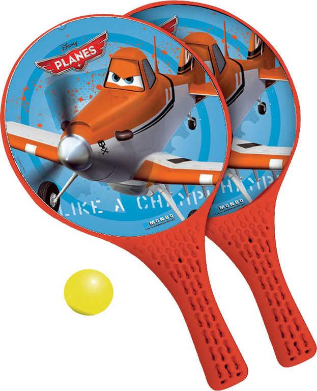 MONDO Tenis plážový Planes (Letadla) set 2 rakety + soft míček