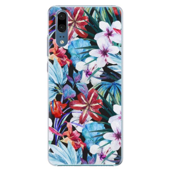Plastové pouzdro iSaprio - Tropical Flowers 05 - Huawei P20