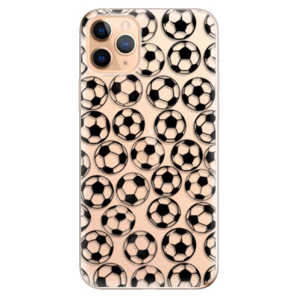 Odolné silikonové pouzdro iSaprio - Football pattern - black - iPhone 11 Pro Max