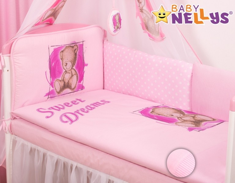 baby-nellys-mantinel-4240x70-baby-nellys-mantinel-420cm-s-povlecenim-sweet-dreams-by-teddy-ruzovy-140x70