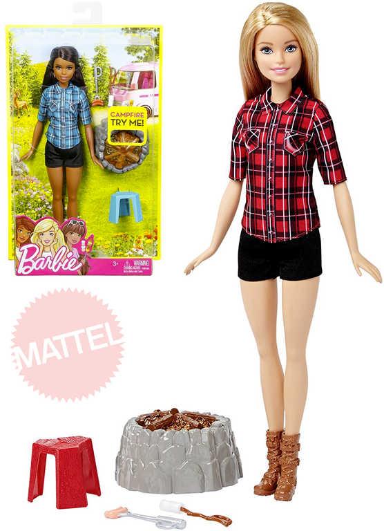MATTEL BRB Panenka Barbie 32cm u táboráku set s doplňky - 2 druhy