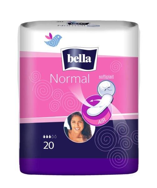 Normal hygienické vložky bez křidélek a bez parfemace 20 ks/bal.