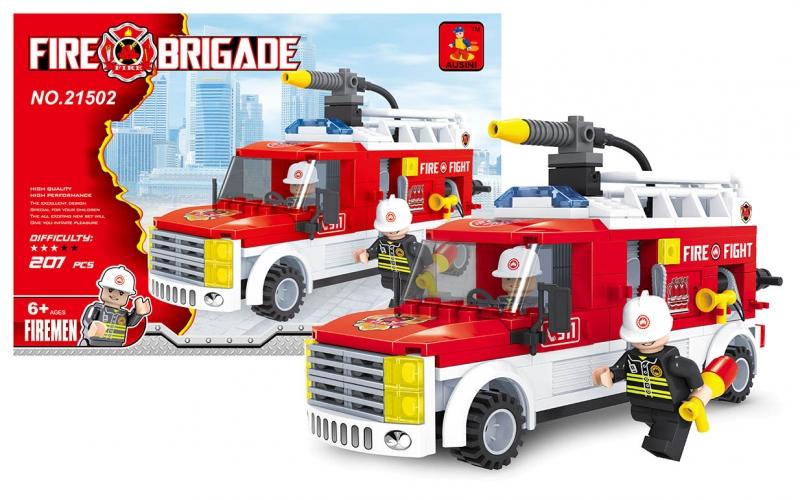 Stavebnice AUSINI hasiči - dodávka 207 dílů