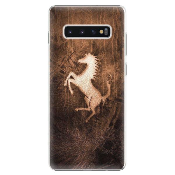 Plastové pouzdro iSaprio - Vintage Horse - Samsung Galaxy S10+